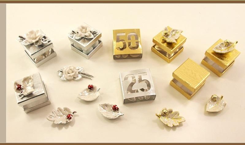 Ben noto Bomboniera anniversario matrimonio fiori/ piccola bomboniera economica RU11