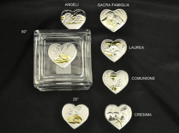 Popolare anniversario porta confetti vetro 25/50 anni matrimonio nozze UB57