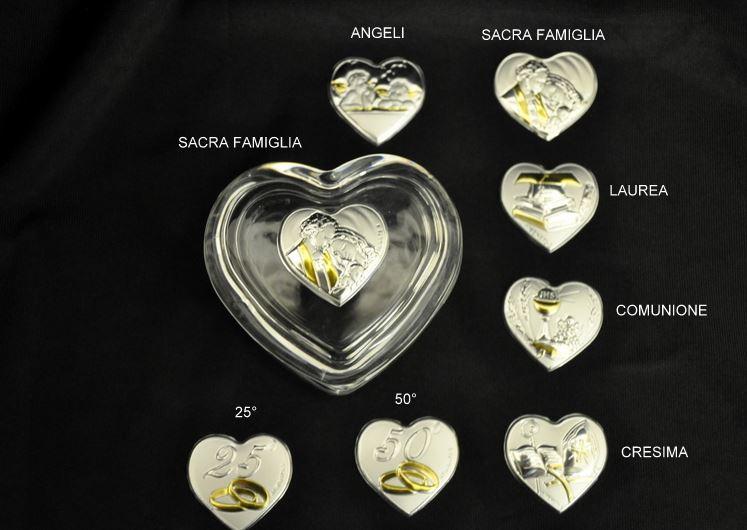 Bomboniera Anniversario Porta Confetti Vetro 25 50 Anni Matrimonio Nozze
