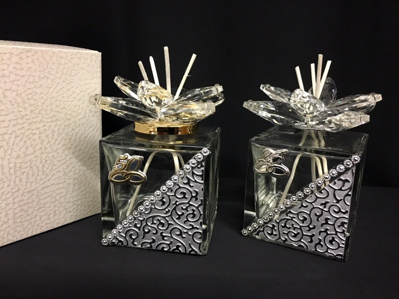 Bomboniere Matrimonio 2018 Cristallo.Bomboniera Matrimonio Anniversario Profumatore Loto Butterfly