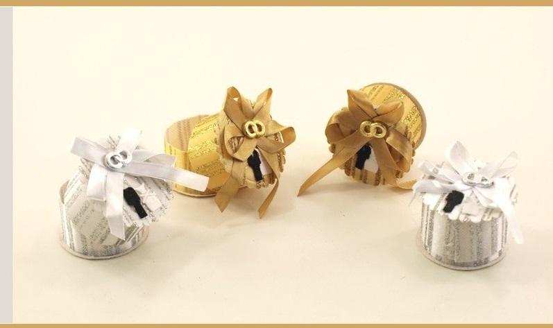 Famoso Porta confetti/scatolina tonda / confettata anniversario nozze d  MX18
