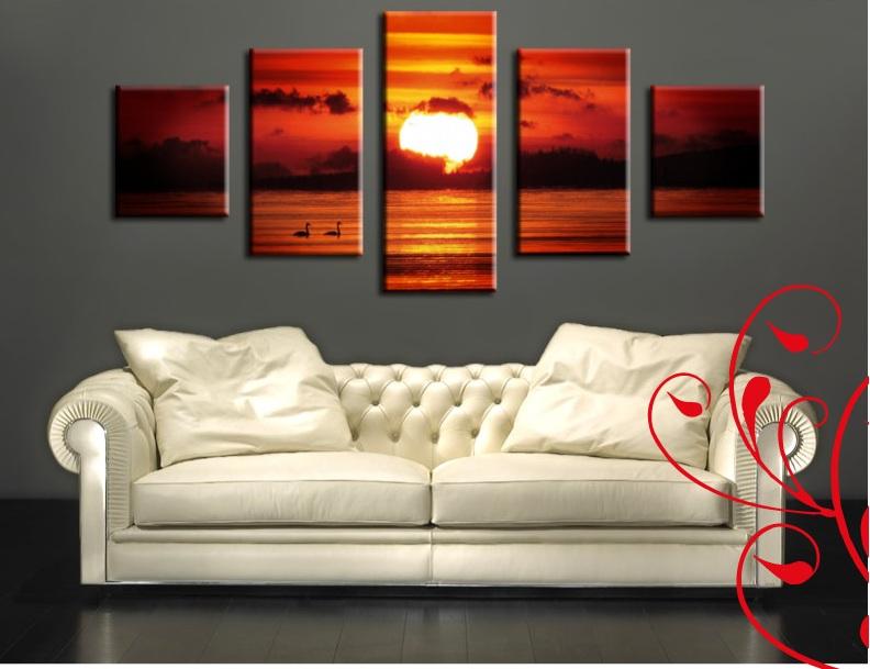 Quadro d 39 arredo tramonto for Quadri per soggiorni moderni