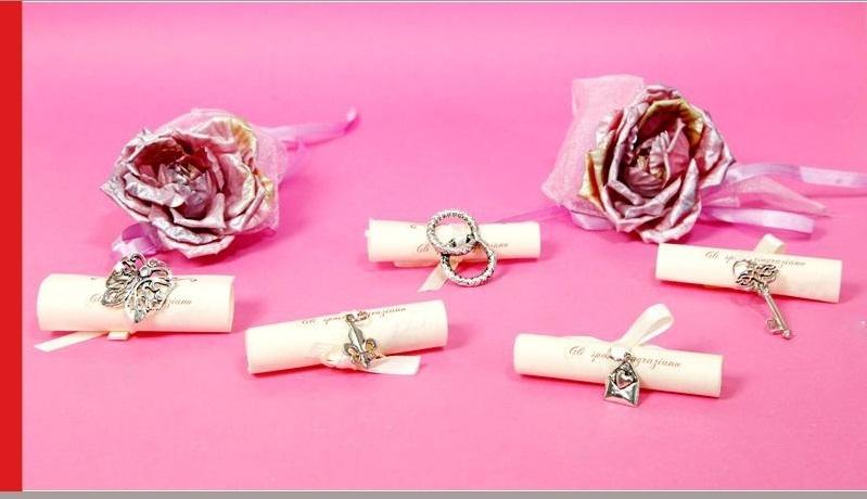 Pergamena Matrimonio Simbolico : Segnaposto matrimonio ciondolo con pergamena