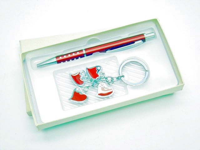 Set regalo penna + porta chiavi donna regalo