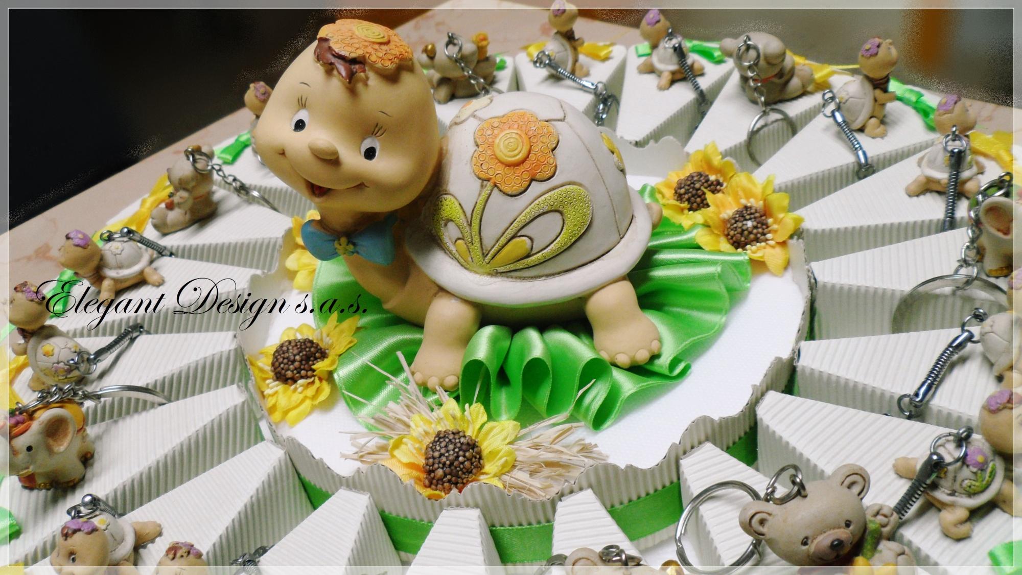abbastanza Torta bomboniera battesimo, nascita, comunione, primo compleanno  NO39