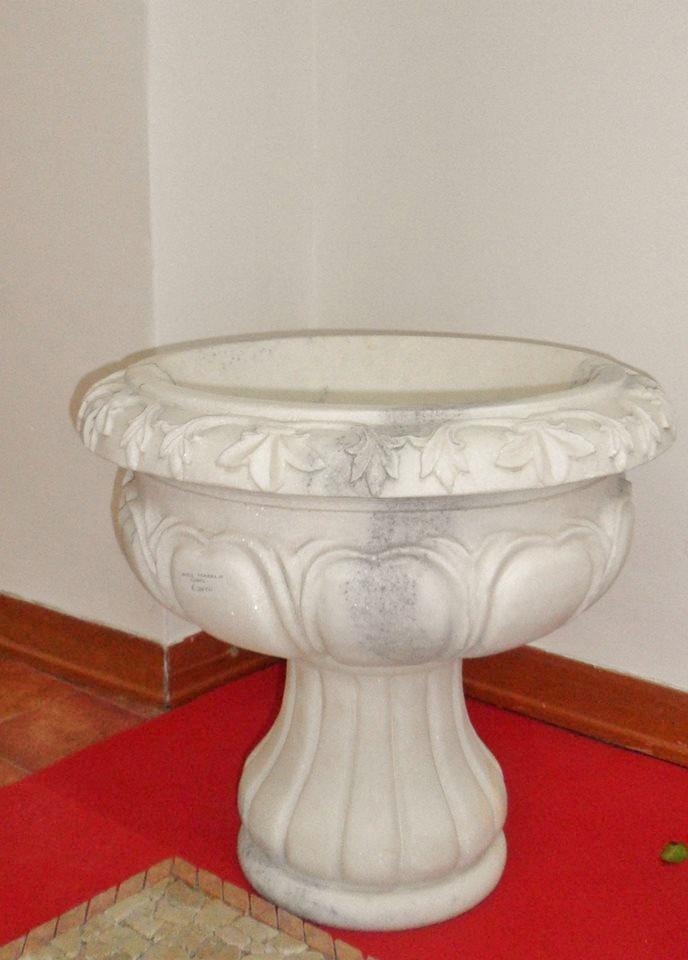 Vaso in marmo da interno o esterno decorativo casa o giardino - Vaso da interno ...
